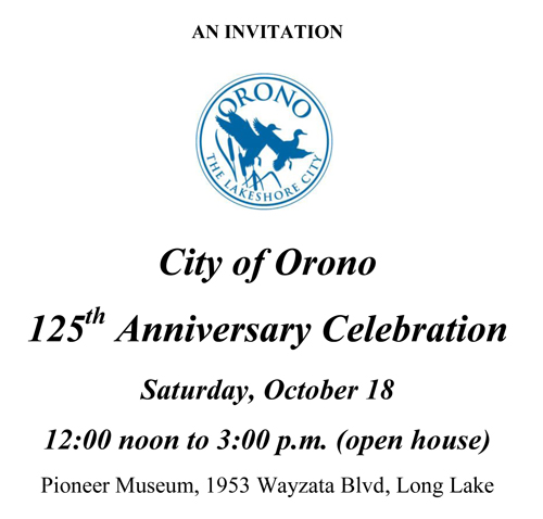 Invitation from City of Orono